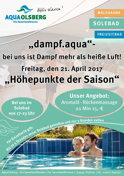 Dampfbadabend April 2017 5